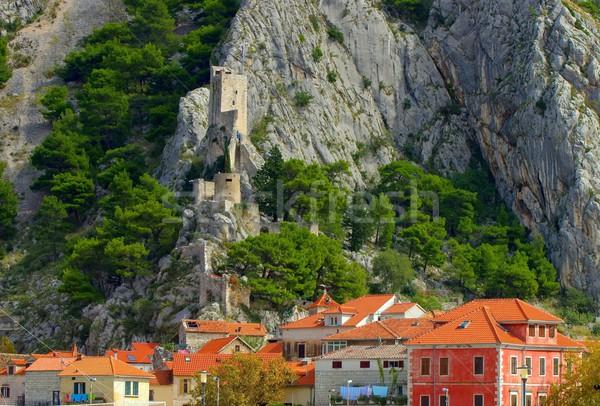 Fortezza casa montagna castello Hill città Foto d'archivio © LianeM