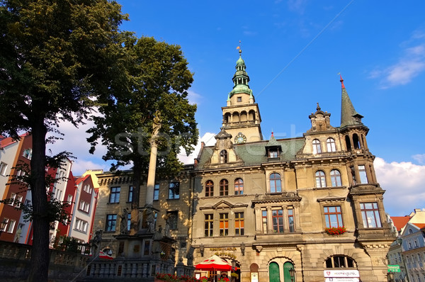 the town Klodzko (Glatz) in Silesia, Town Hall Stock photo © LianeM