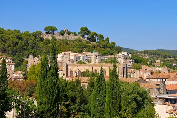 города южный Франция дерево пейзаж зеленый Сток-фото © LianeM