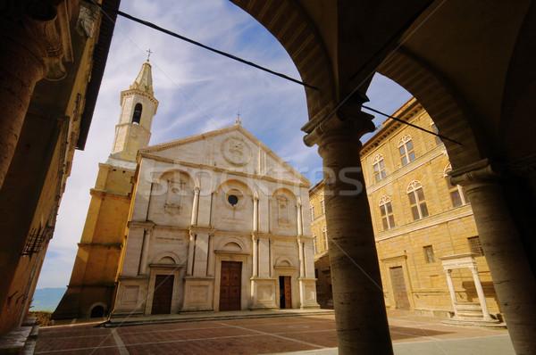 Pienza cathedral 01 Stock photo © LianeM