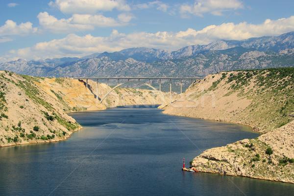 Mare ponte autostrada 16 cielo acqua Foto d'archivio © LianeM