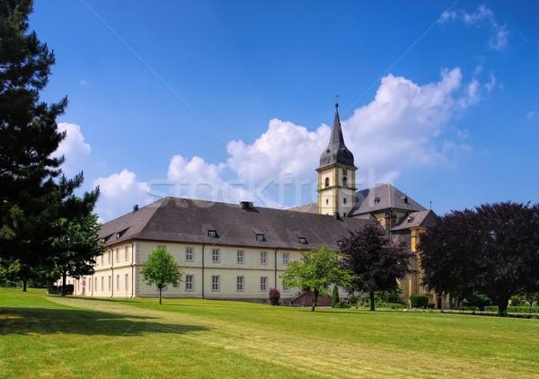 Opactwo kościoła góry architektury wieża Niemcy Zdjęcia stock © LianeM
