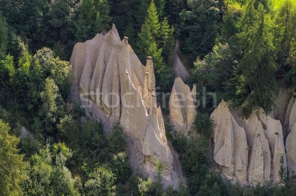 風景 ヨーロッパ ピラミッド 谷 列 イタリア ストックフォト © LianeM