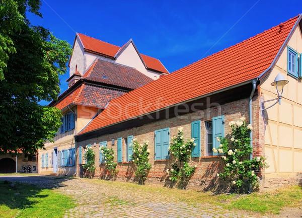 Stockfoto: Abdij · steeg · kerk · park · stad · Duitsland