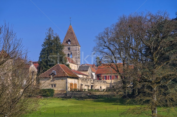 Saint-Seine-sur-Vingeanne Chateau in France Stock photo © LianeM