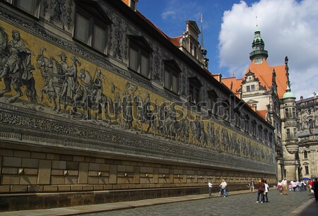 Dresden Procession of Princes  Stock photo © LianeM