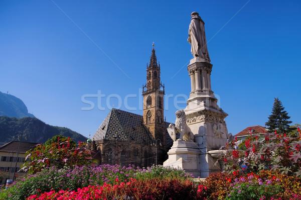 ストックフォト: イタリア · 建物 · 夏 · 像 · 町 · 大聖堂