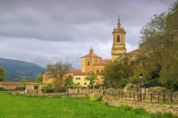 Abadia norte Espanha céu igreja Foto stock © LianeM