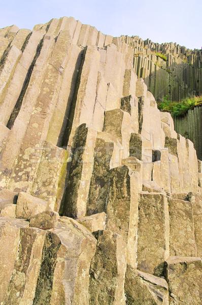 19 hegy kő kő oszlop szürke Stock fotó © LianeM