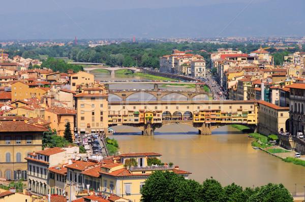 Stok fotoğraf: Floransa · köprü · 10 · su · Bina · seyahat