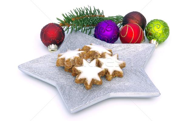 star-shaped cinnamon biscuit 07 Stock photo © LianeM