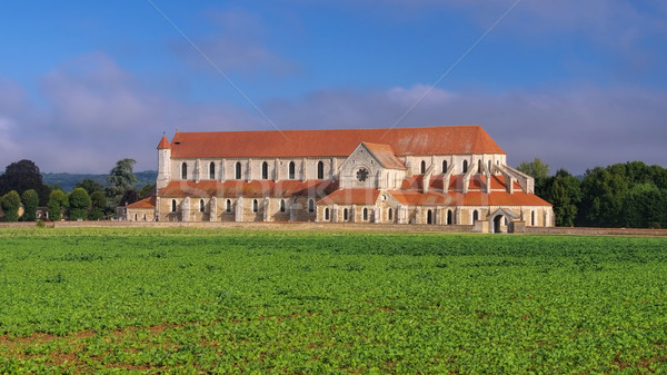 old Pontigny Abbey, Burgundy Stock photo © LianeM