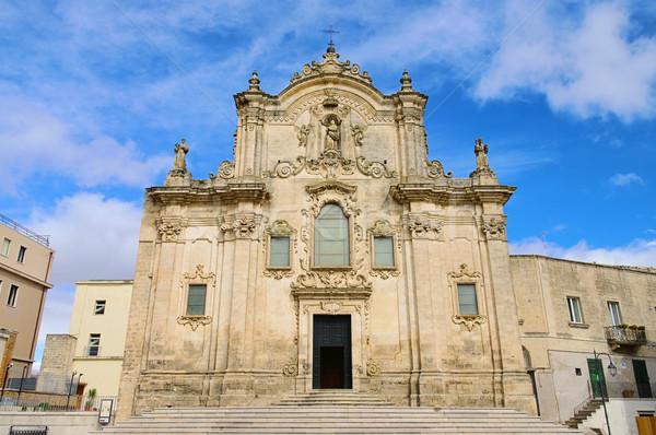 Matera church San Francesco d Assisi 01 Stock photo © LianeM