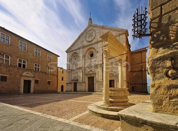 Pienza cathedral  Stock photo © LianeM