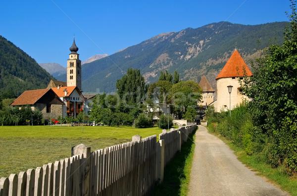 Glurns in South Tyrol Stock photo © LianeM