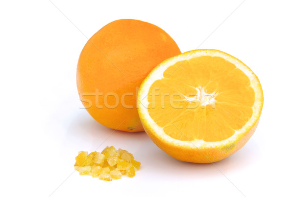 Confits orange alimentaire nature fruits Photo stock © LianeM