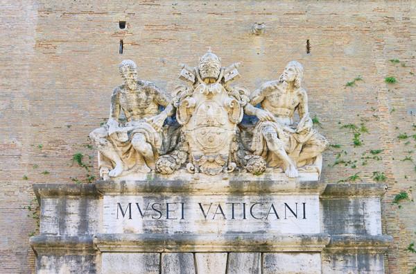 Рим скульптуры вход Ватикан дома Сток-фото © LianeM