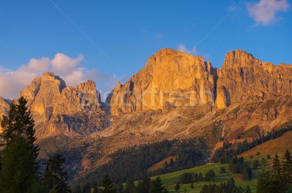 Rosengarten group in Dolomites Stock photo © LianeM