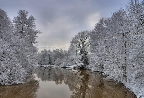 Spremberg river Spree in Winter  Stock photo © LianeM