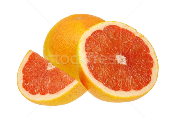 Pomelo frutas naranja amarillo frescos macro Foto stock © LianeM