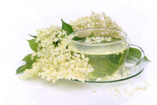 tea elder flower 04 Stock photo © LianeM
