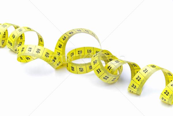 Fita métrica fita amarelo isolado Foto stock © LianeM