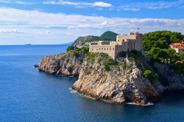 Dubrovnik fort zee kasteel Europa Stockfoto © LianeM
