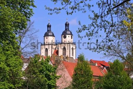 Wittenberg Town and Parish Church of St. Mary's Stock photo © LianeM