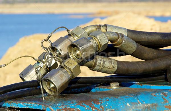 гидравлический строительство машина трубы трубка линия Сток-фото © LianeM