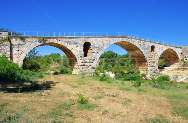13 égbolt természet híd kék ív Stock fotó © LianeM