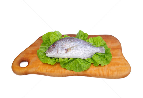Cabeça 15 comida madeira salada cozinhar Foto stock © LianeM