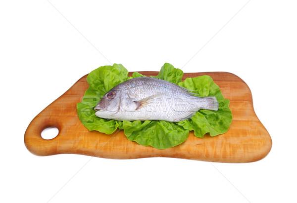 Kafa 15 gıda ahşap salata pişirme Stok fotoğraf © LianeM