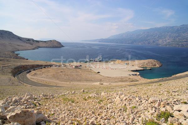 Porto céu deserto rocha pedra ilha Foto stock © LianeM