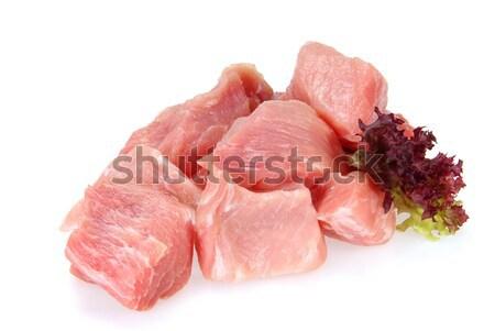 Varkensvlees ruw 14 Rood vlees vet Stockfoto © LianeM