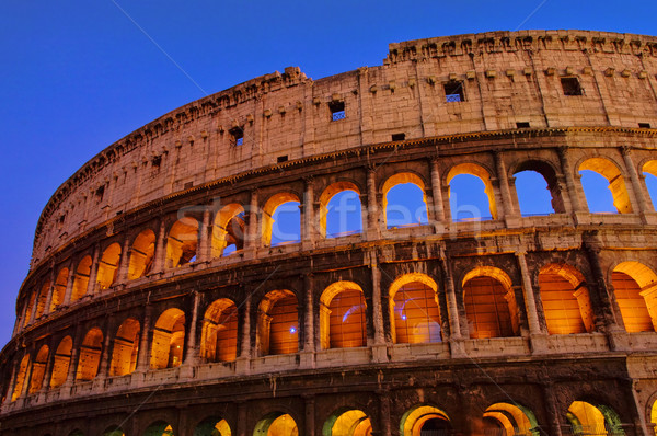 Rom Colosseum by night 01 Stock photo © LianeM