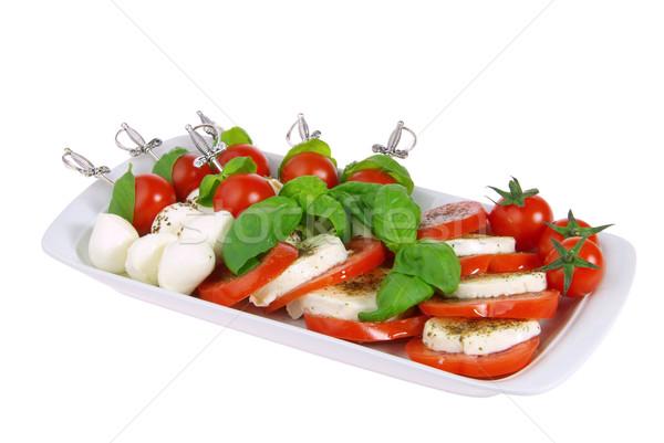 Spugen mozzarella 25 blad kaas bal Stockfoto © LianeM