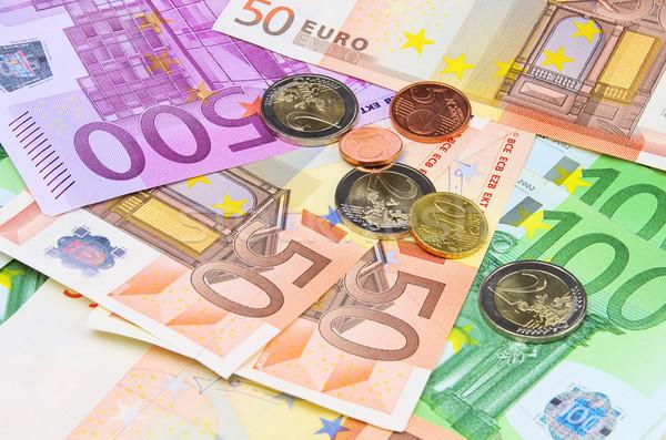 Pénz 15 üzlet bank Euro jegyzet Stock fotó © LianeM