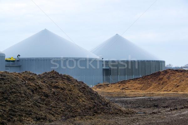 Biogáz növény 50 mező Stock fotó © LianeM