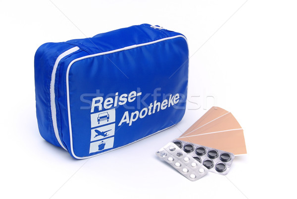 first aid travel kit 04 Stock photo © LianeM