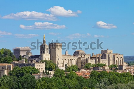 Castelo tijolo torre medieval paredes Itália Foto stock © LianeM