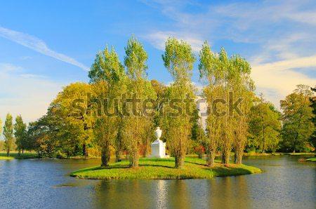 English Grounds of Woerlitz Rousseau island 03 Stock photo © LianeM