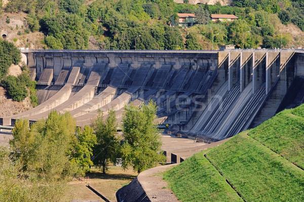 водохранилище строительство стены пейзаж моста озеро Сток-фото © LianeM