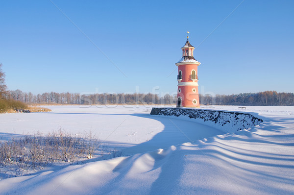 Moritzburg Leuchtturm im Winter - Moritzburg lighthouse in winter 05 Stock photo © LianeM