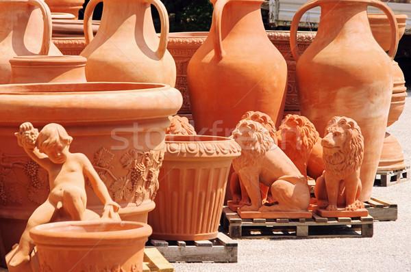 flower pot from terracotta 06 Stock photo © LianeM