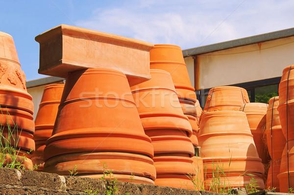 flower pot from terracotta 02 Stock photo © LianeM