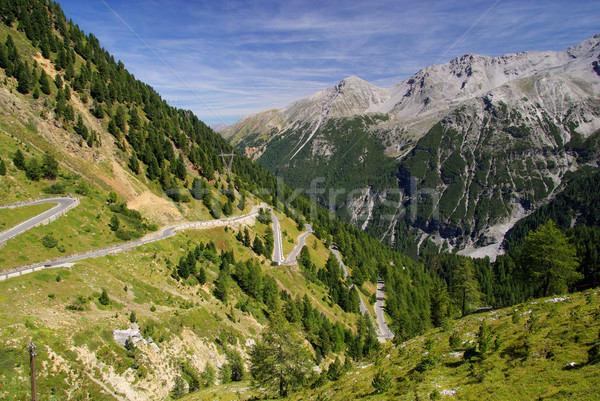13 strada panorama montagna Europa Foto d'archivio © LianeM