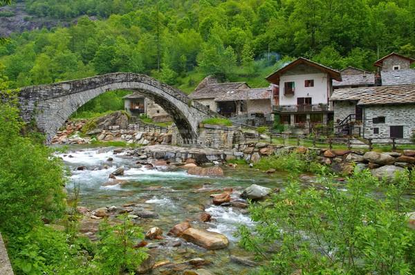 Fondo bridge  Stock photo © LianeM