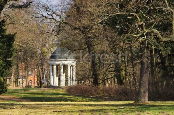 Tempel voorjaar tuin park Europa weide Stockfoto © LianeM