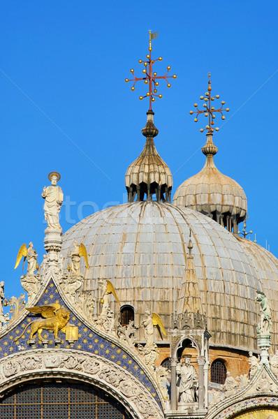 базилика небе город крест Церкви путешествия Сток-фото © LianeM