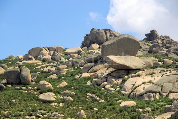 Valencia de Alcantara granite rock landscape 35 Stock photo © LianeM